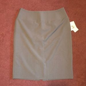Gray Business Skirt